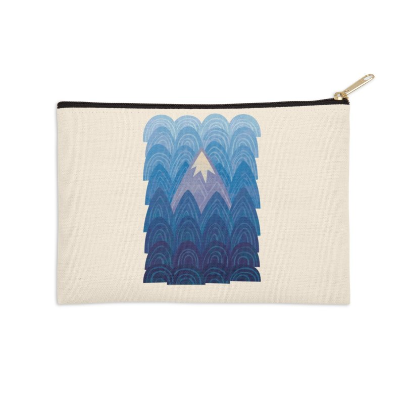 Towering Mountain : blue Accessories Zip Pouch by Waynem