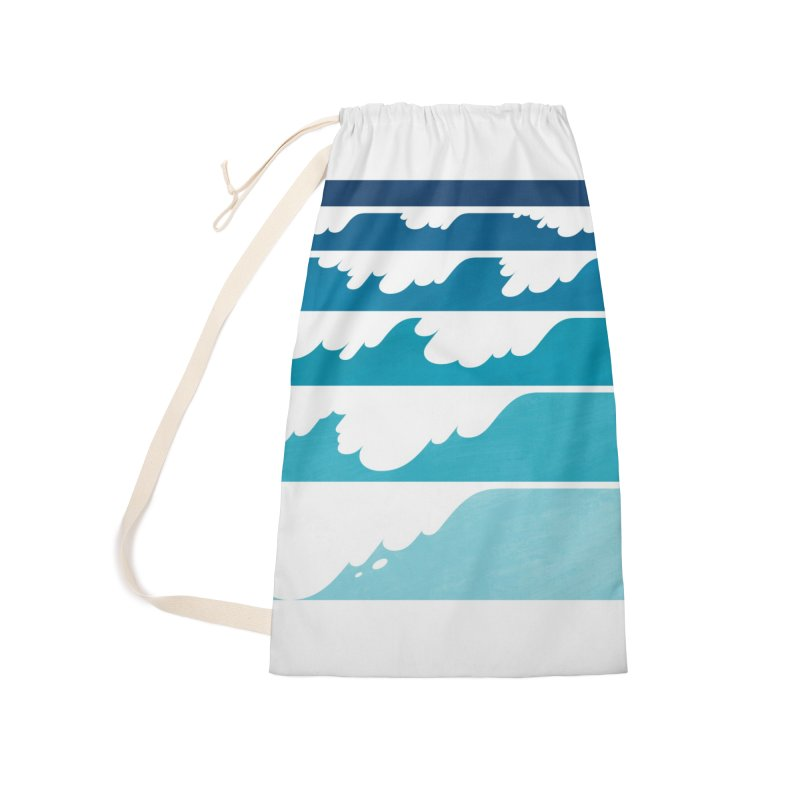 Wave Cascade Accessories Laundry Bag Bag by Waynem