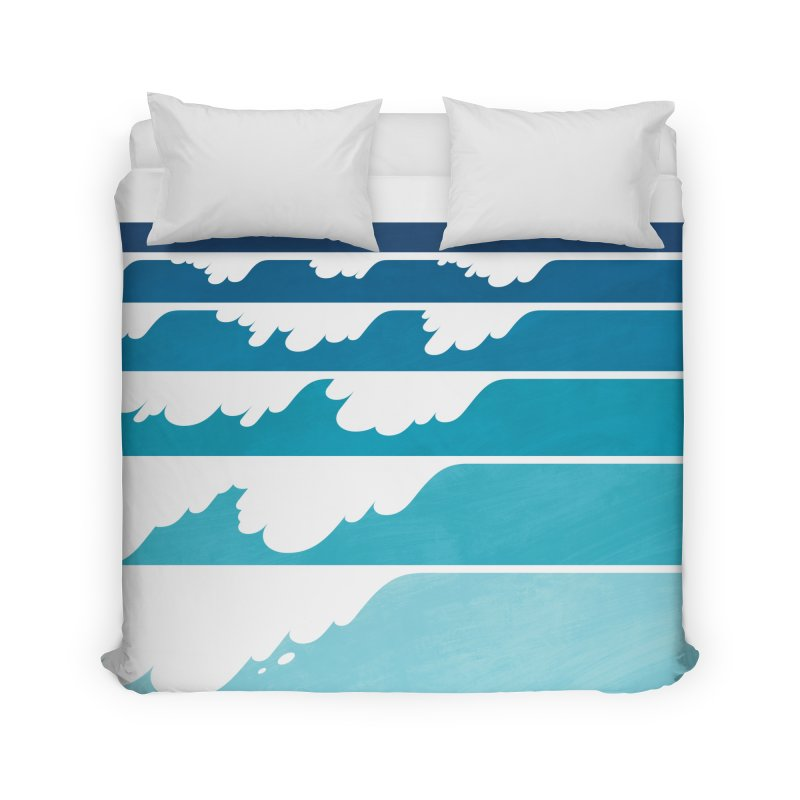 Wave Cascade Home Duvet by Waynem