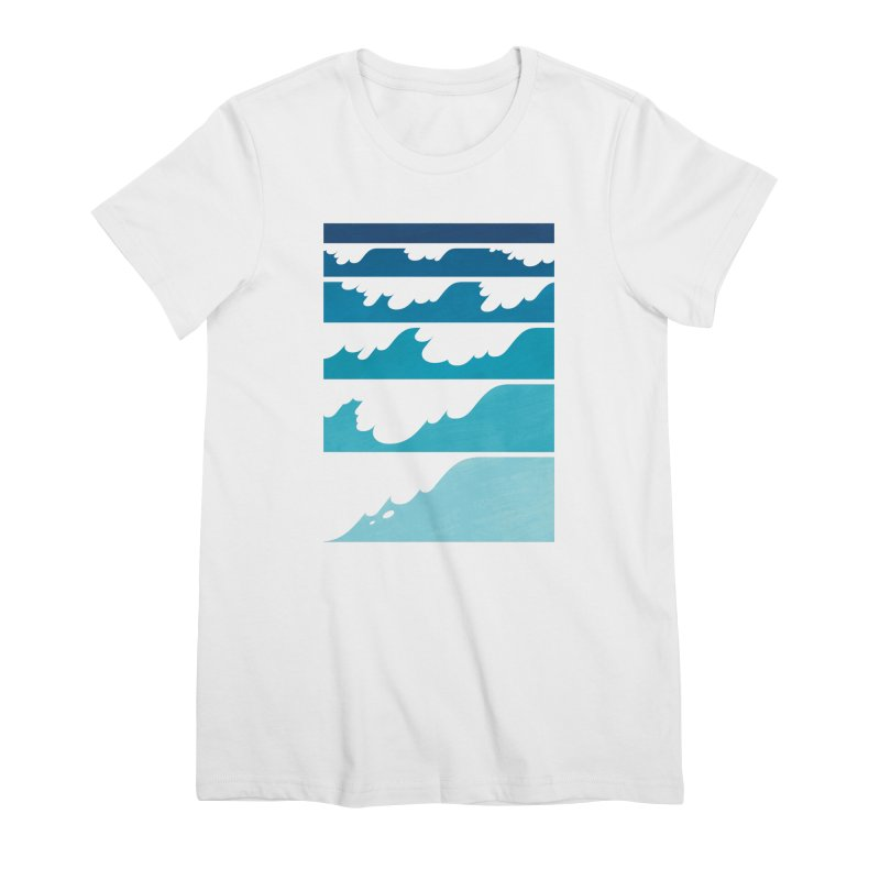 Wave Cascade Women's Premium T-Shirt by Waynem