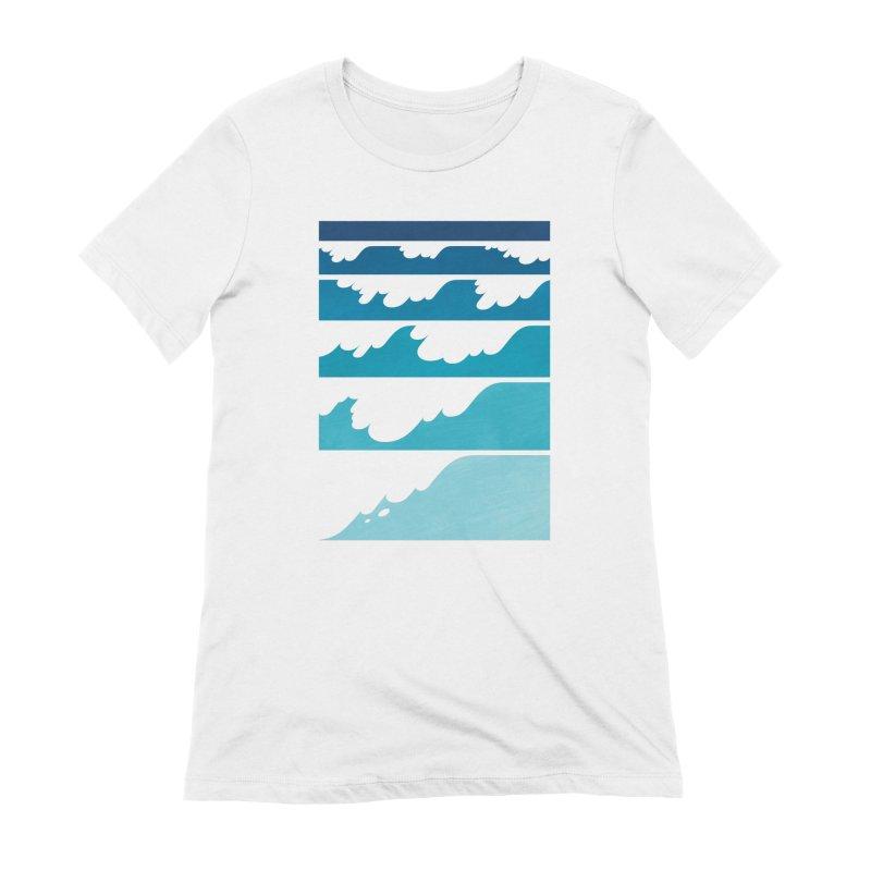 Wave Cascade Women's Extra Soft T-Shirt by Waynem