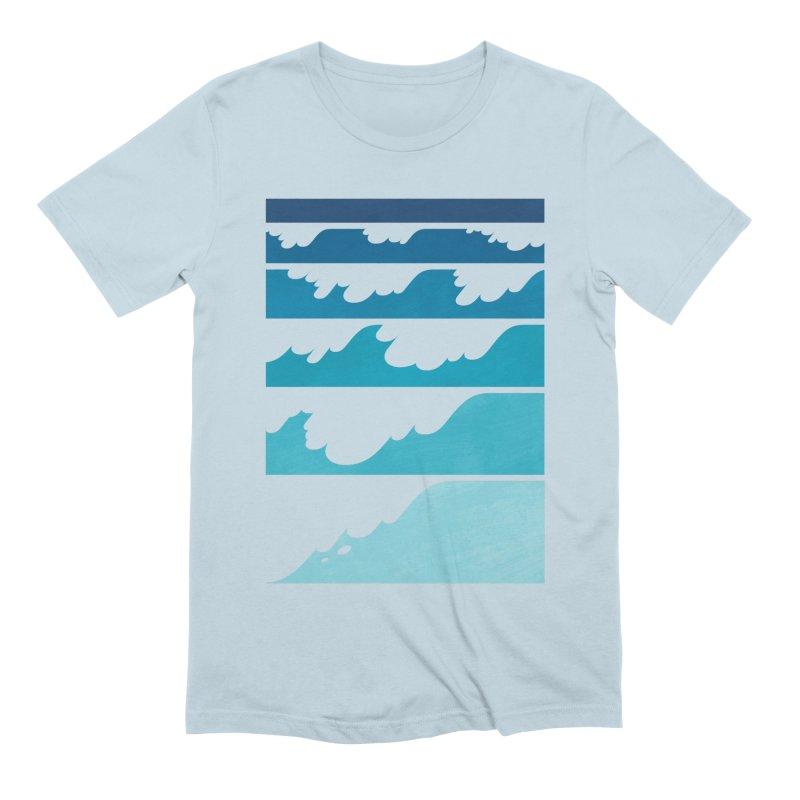 Wave Cascade Men's Extra Soft T-Shirt by Waynem