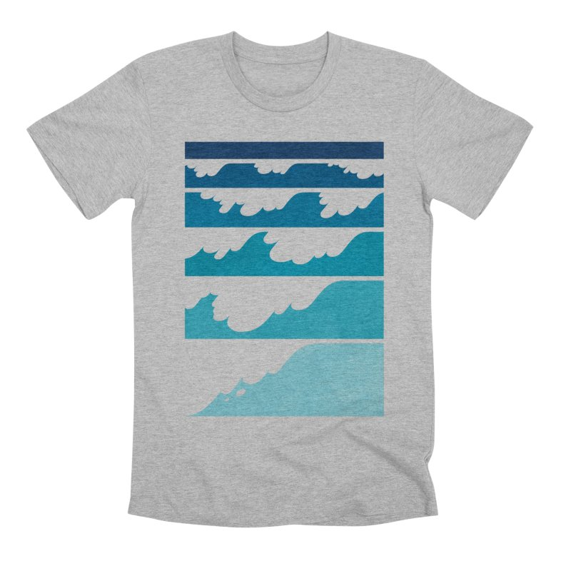 Wave Cascade Men's Premium T-Shirt by Waynem