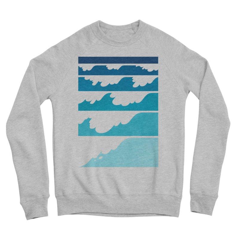 Wave Cascade Men's Sponge Fleece Sweatshirt by Waynem