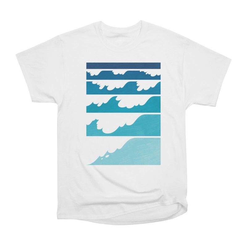 Wave Cascade Men's Heavyweight T-Shirt by Waynem