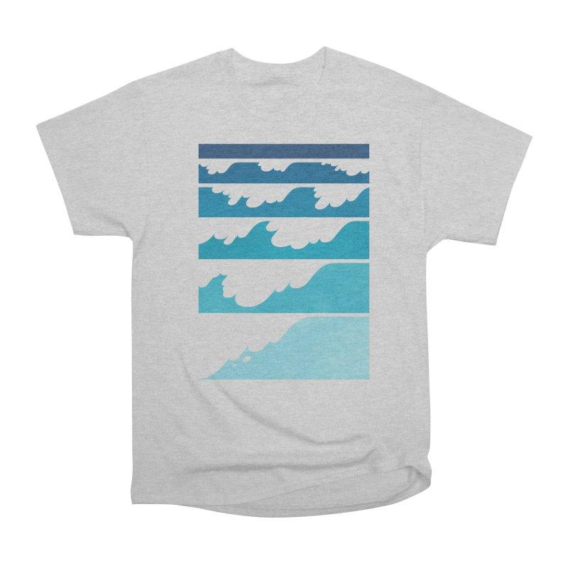 Wave Cascade Women's Heavyweight Unisex T-Shirt by Waynem