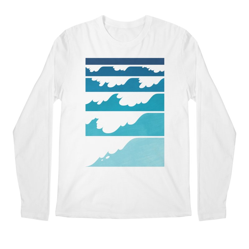 Wave Cascade Men's Regular Longsleeve T-Shirt by Waynem