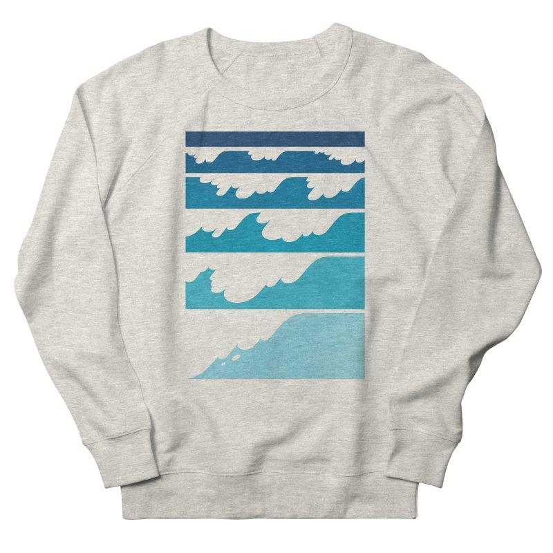 Wave Cascade Men's French Terry Sweatshirt by Waynem