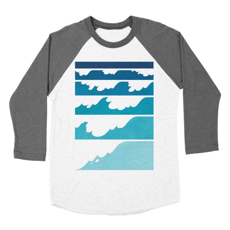 Wave Cascade Women's Baseball Triblend Longsleeve T-Shirt by Waynem