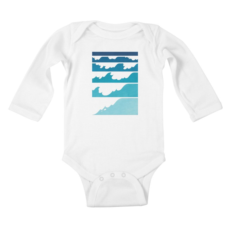 Wave Cascade Kids Baby Longsleeve Bodysuit by Waynem