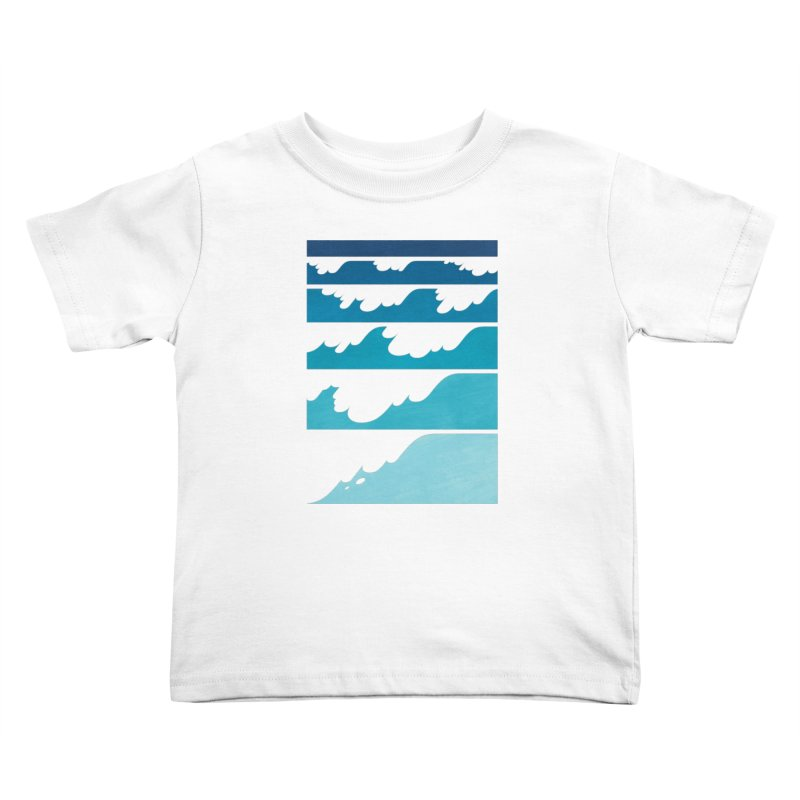 Wave Cascade Kids Toddler T-Shirt by Waynem