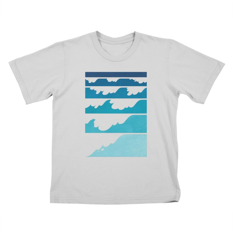 Wave Cascade Kids T-Shirt by Waynem