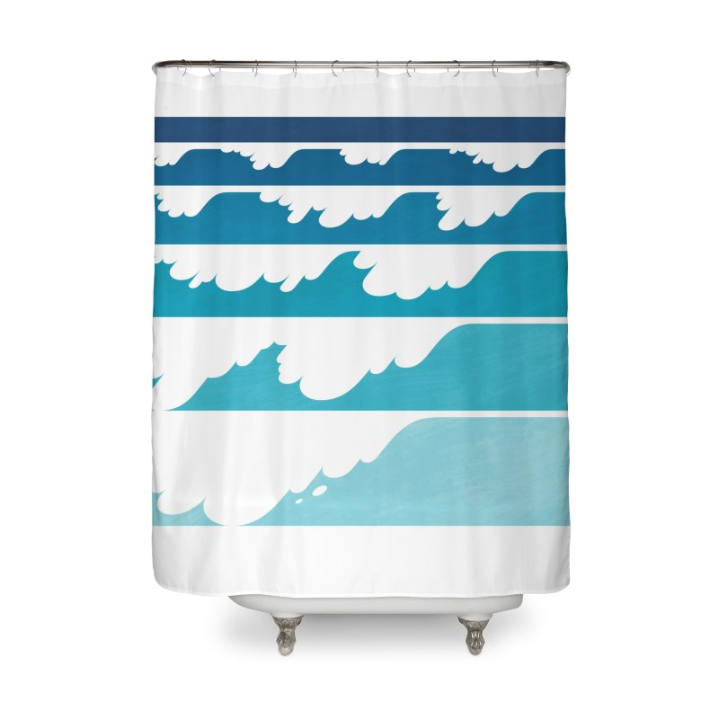 Wave Cascade Home Shower Curtain by Waynem