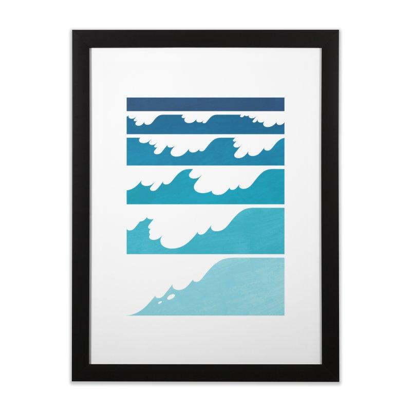 Wave Cascade Home Framed Fine Art Print by Waynem