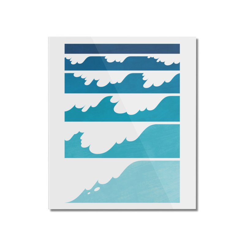 Wave Cascade Home Mounted Acrylic Print by Waynem