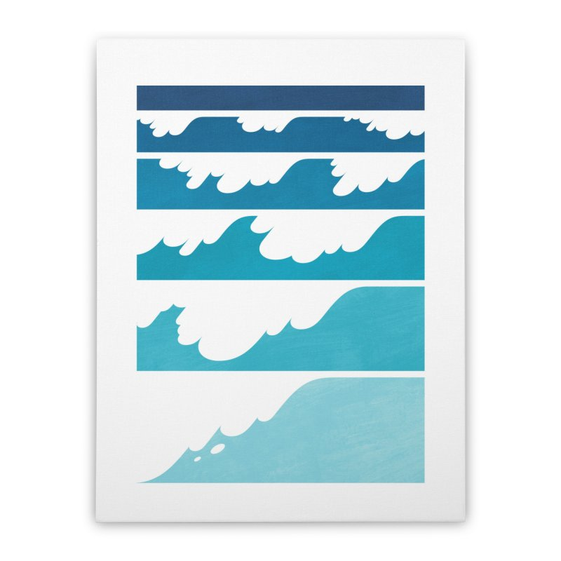 Wave Cascade Home Stretched Canvas by Waynem