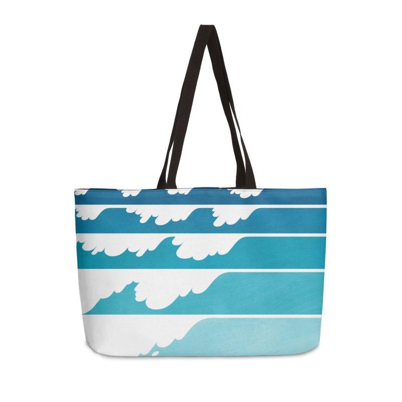 Wave Cascade Accessories Weekender Bag Bag by Waynem