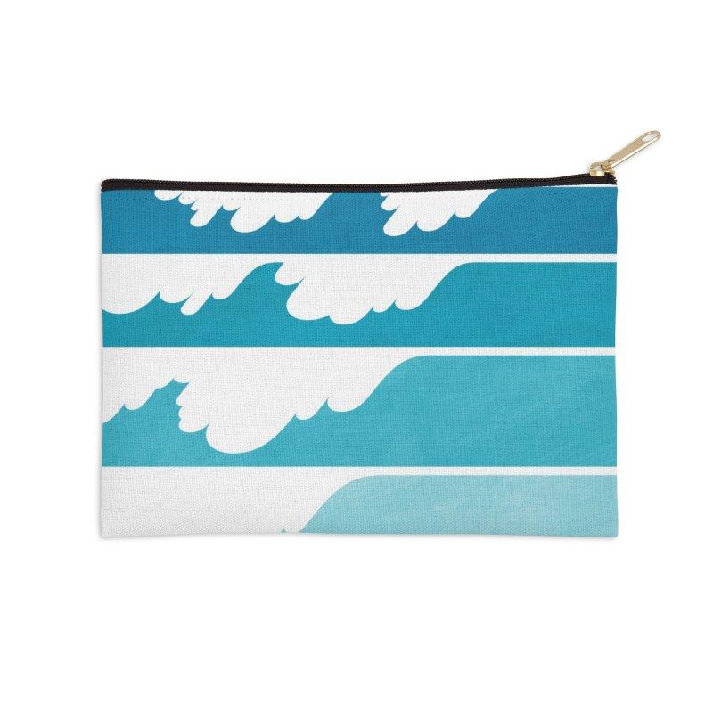 Wave Cascade Accessories Zip Pouch by Waynem