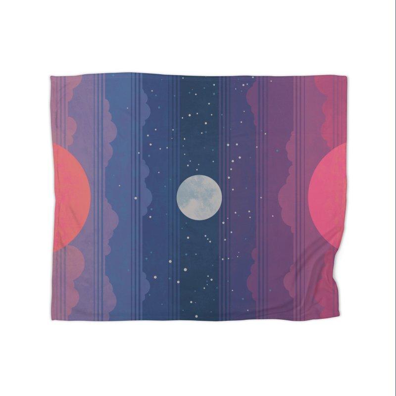 Sunrise to Sunset Home Fleece Blanket Blanket by Waynem