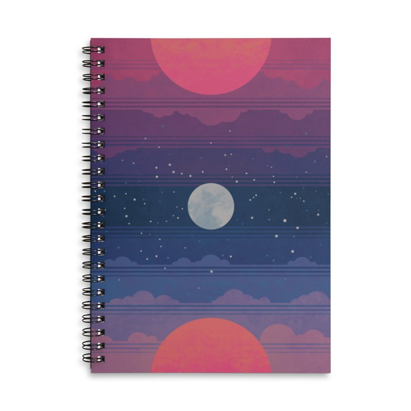 Sunrise to Sunset Accessories Lined Spiral Notebook by Waynem