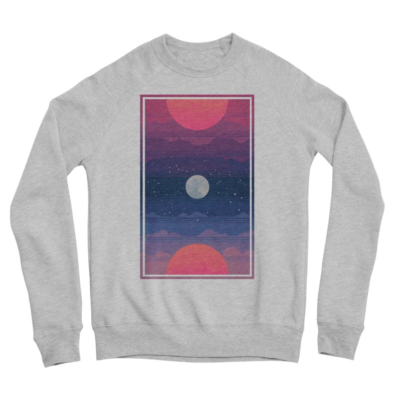 Sunrise to Sunset Men's Sponge Fleece Sweatshirt by Waynem