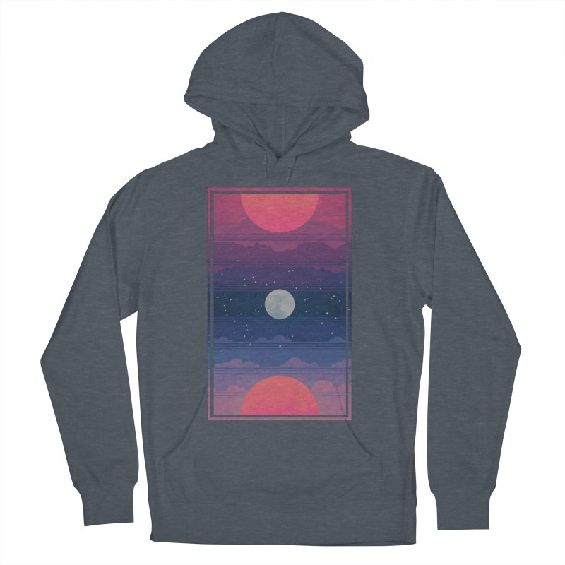 Sunrise to Sunset Men's French Terry Pullover Hoody by Waynem