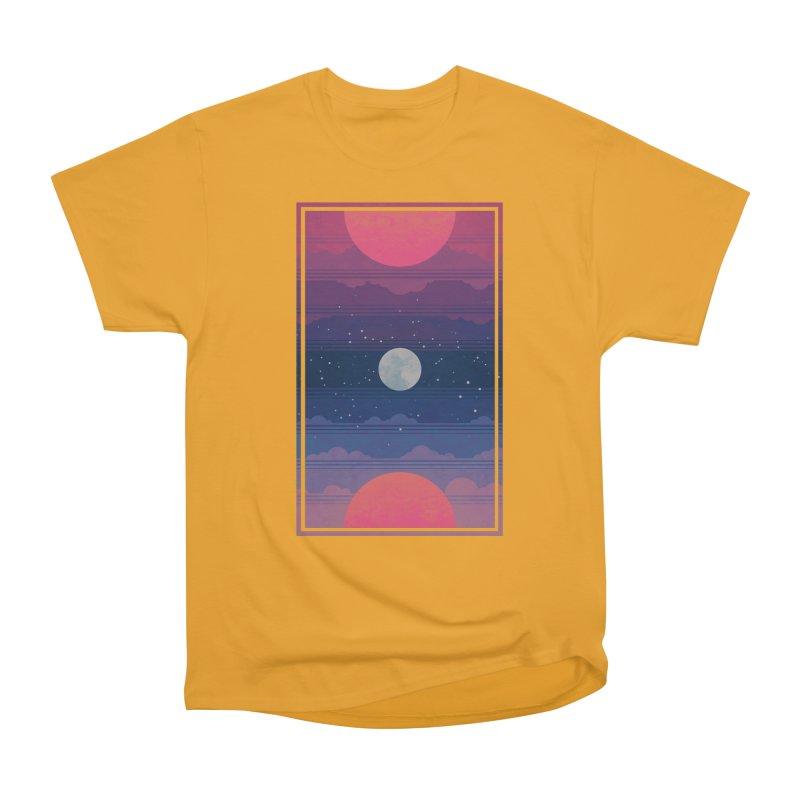 Sunrise to Sunset Men's Heavyweight T-Shirt by Waynem