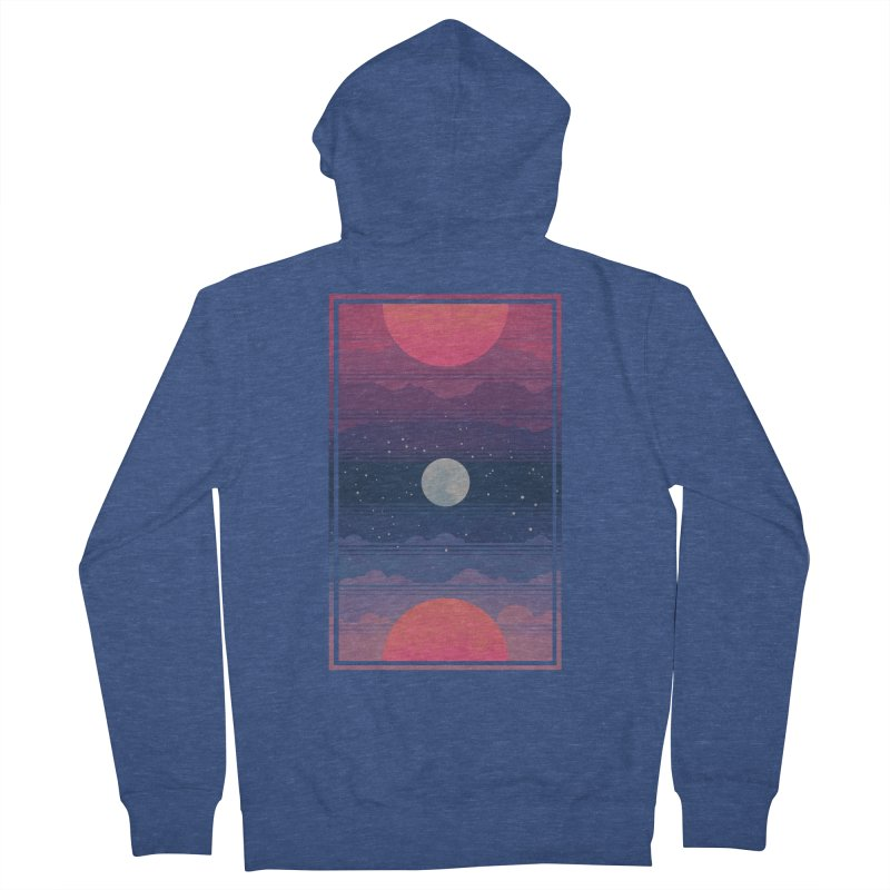 Sunrise to Sunset Men's French Terry Zip-Up Hoody by Waynem