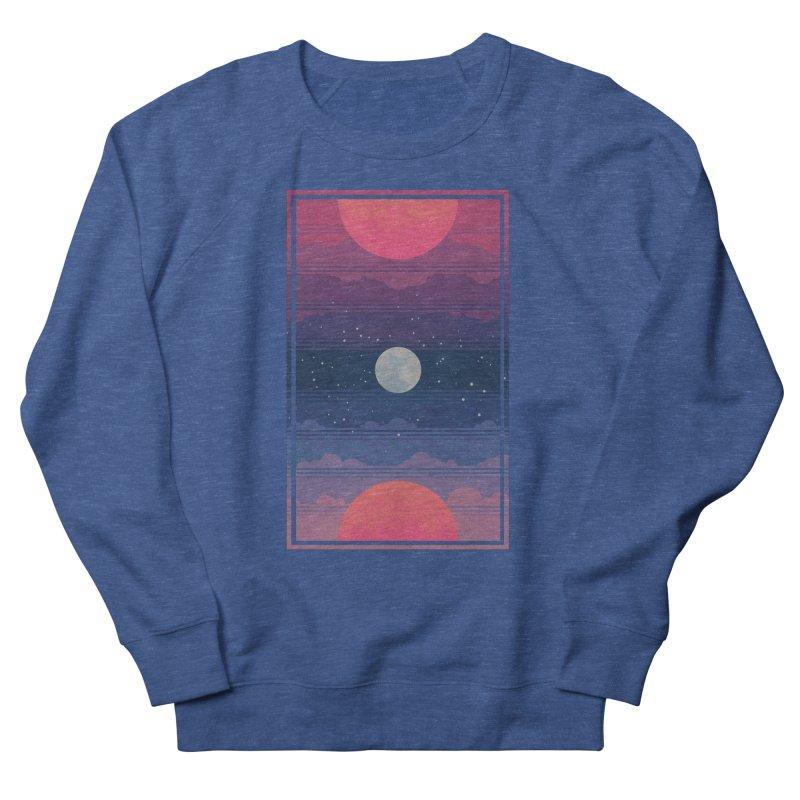 Sunrise to Sunset Men's French Terry Sweatshirt by Waynem