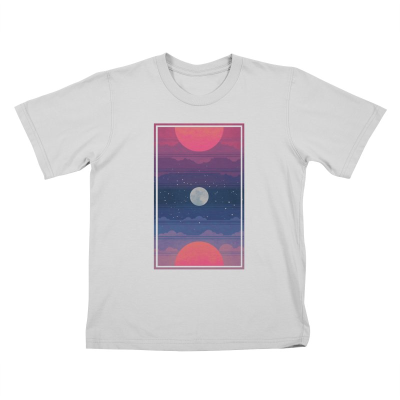 Sunrise to Sunset Kids T-Shirt by Waynem