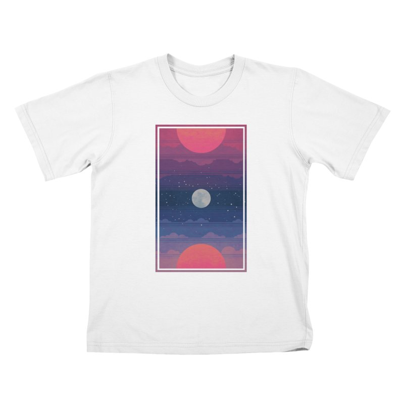 Sunrise to Sunset Kids T-Shirt by Waynem