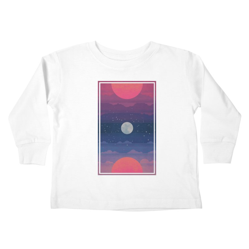 Sunrise to Sunset Kids Toddler Longsleeve T-Shirt by Waynem