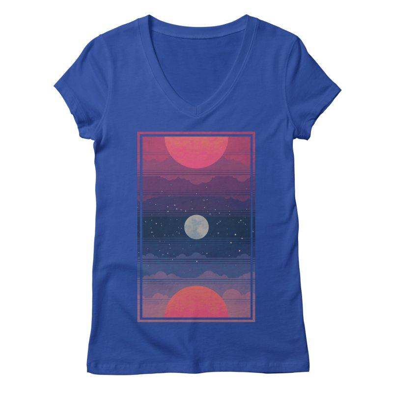 Sunrise to Sunset Women's Regular V-Neck by Waynem