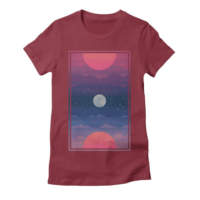 Sunrise to Sunset Women's Fitted T-Shirt by Waynem