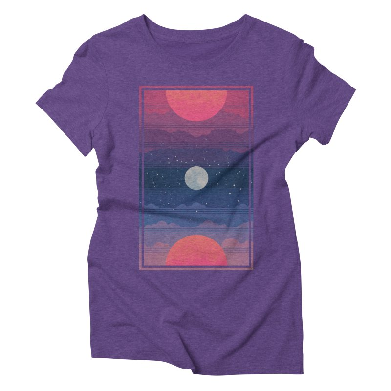 Sunrise to Sunset Women's Triblend T-Shirt by Waynem