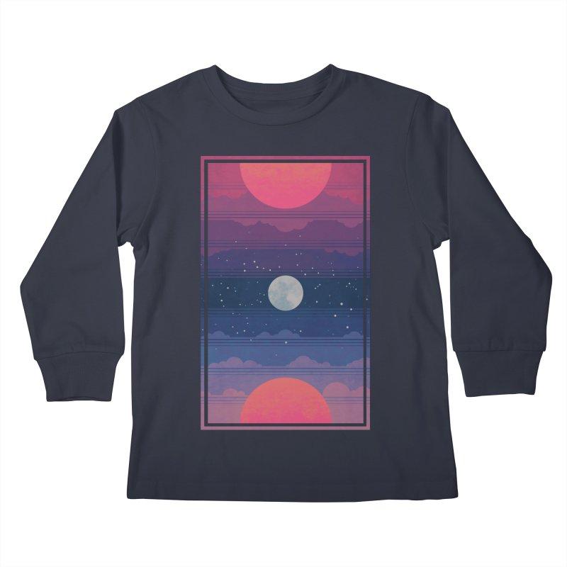 Sunrise to Sunset Kids Longsleeve T-Shirt by Waynem