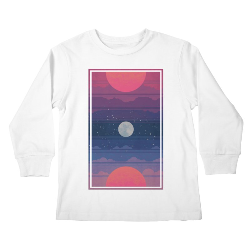 Sunrise to Sunset Kids Longsleeve T-Shirt by Waynem