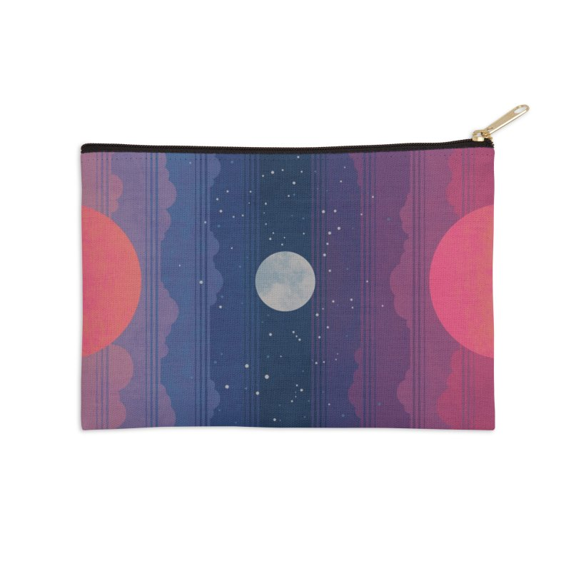 Sunrise to Sunset Accessories Zip Pouch by Waynem