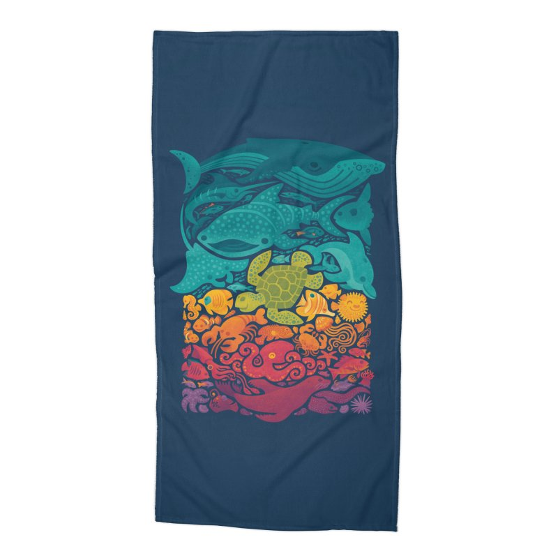 Aquatic Spectrum Accessories Beach Towel by Waynem