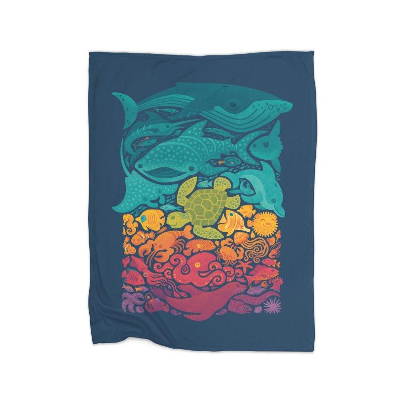 Aquatic Spectrum Home Blanket by Waynem