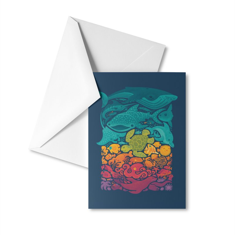 Aquatic Spectrum Accessories Greeting Card by Waynem