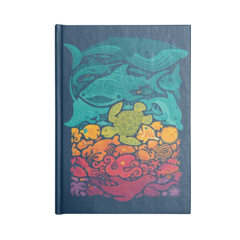 Aquatic Spectrum Accessories Blank Journal Notebook by Waynem