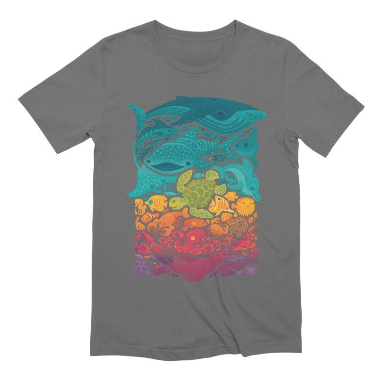 Aquatic Spectrum Men's Extra Soft T-Shirt by Waynem