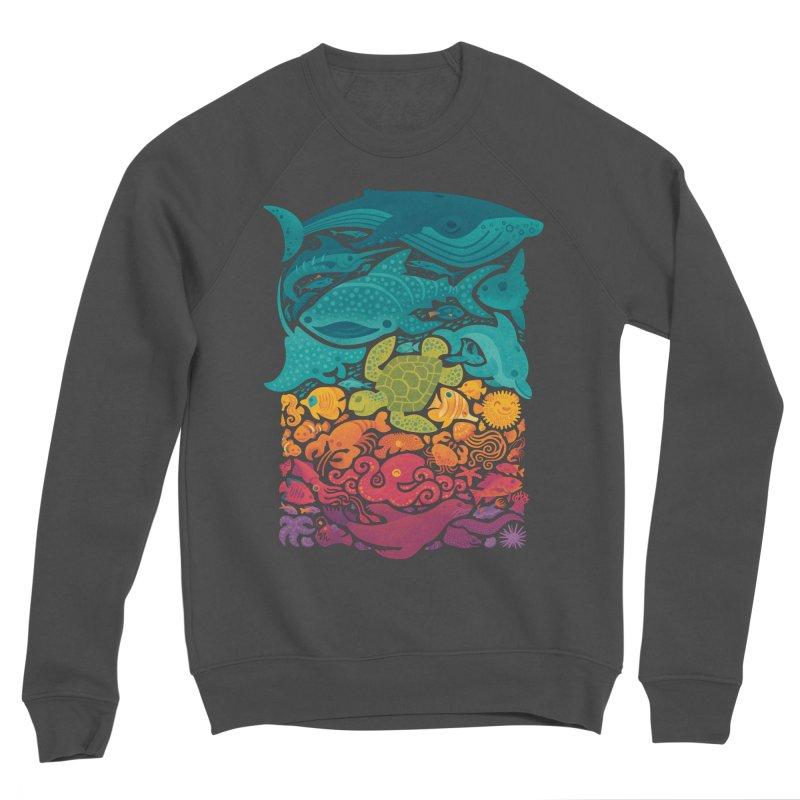 Aquatic Spectrum Men's Sponge Fleece Sweatshirt by Waynem
