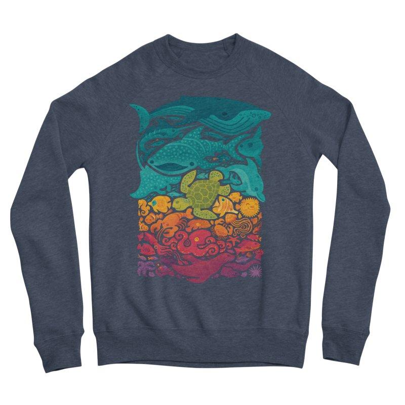 Aquatic Spectrum Women's Sponge Fleece Sweatshirt by Waynem