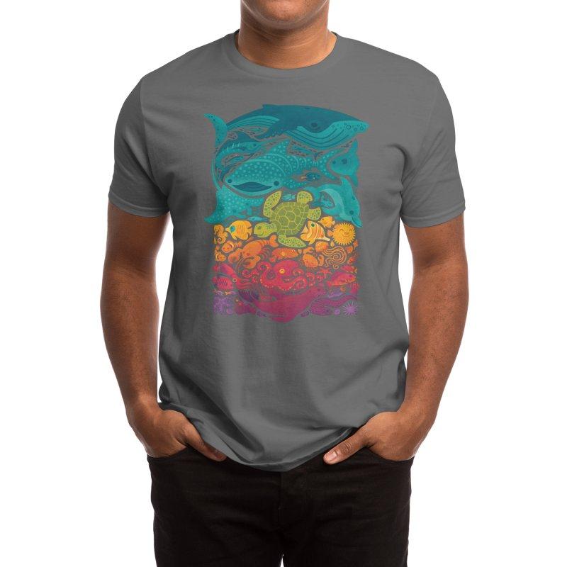 Aquatic Spectrum Men's T-Shirt by Waynem
