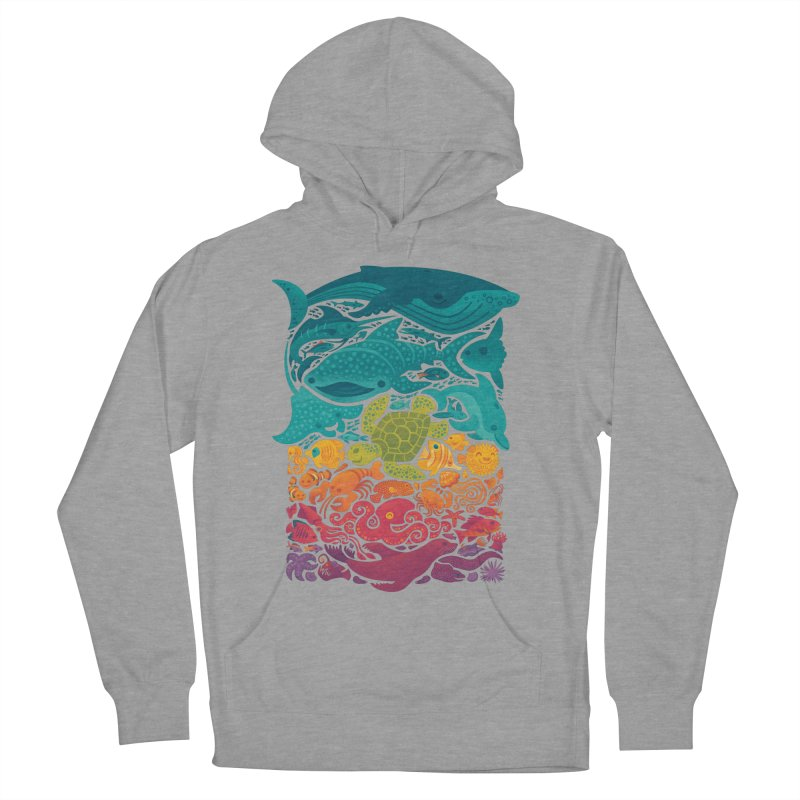Aquatic Spectrum Women's French Terry Pullover Hoody by Waynem