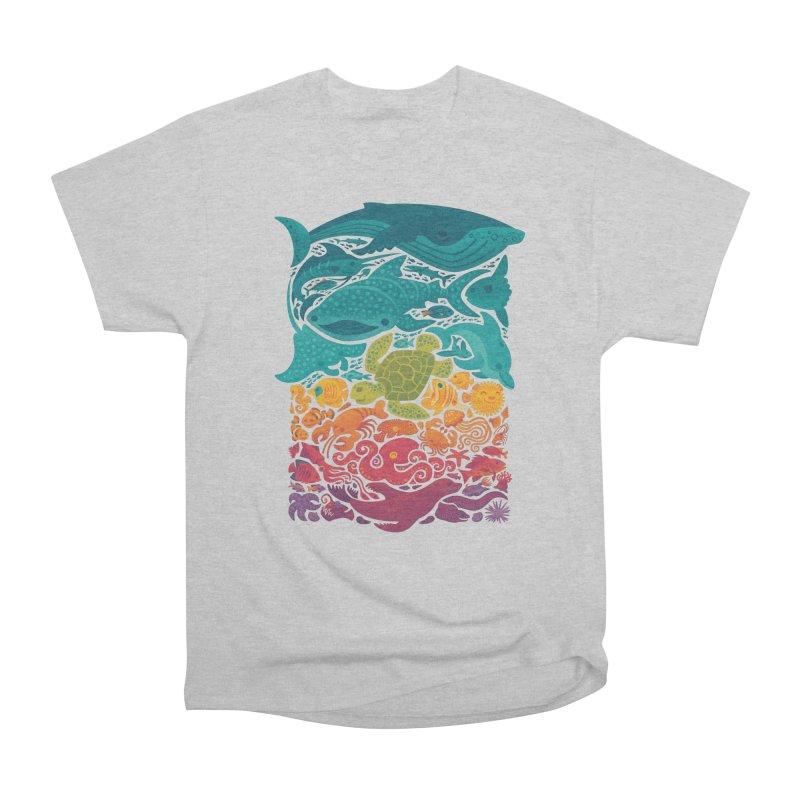 Aquatic Spectrum Men's Heavyweight T-Shirt by Waynem
