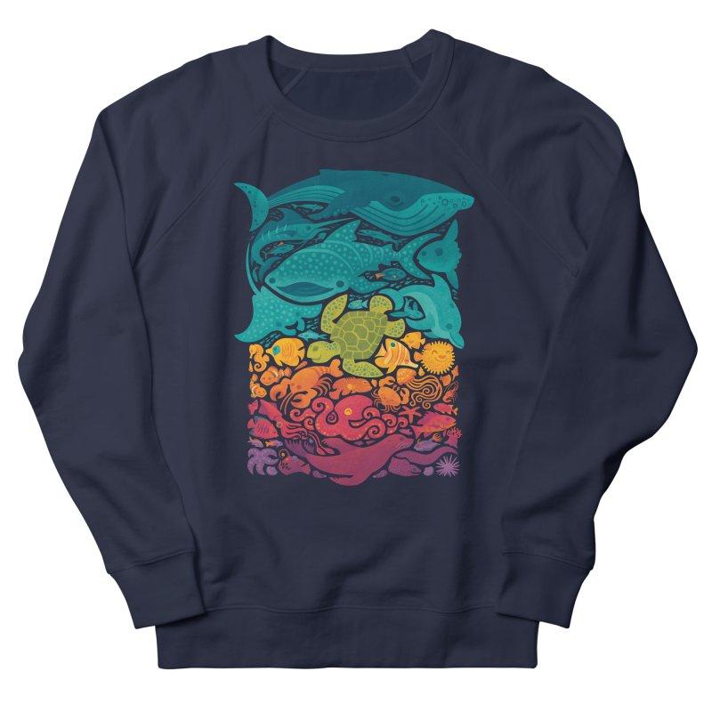 Aquatic Spectrum Women's French Terry Sweatshirt by Waynem