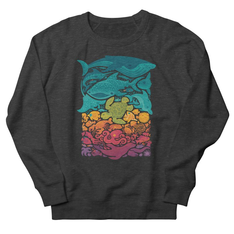 Aquatic Spectrum Men's French Terry Sweatshirt by Waynem